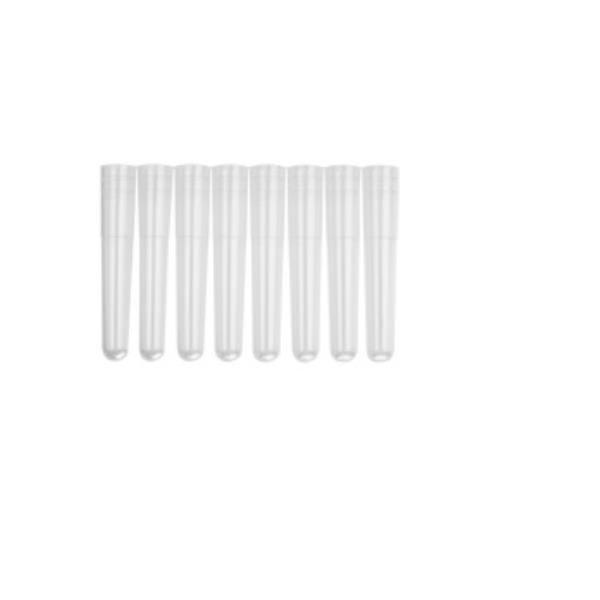 Minitubo Capacidade de 1,1 mL, em tiras, caixa com 5 pacotes de 120 tubos, mod.: MTS-11-8-C (Axygen)