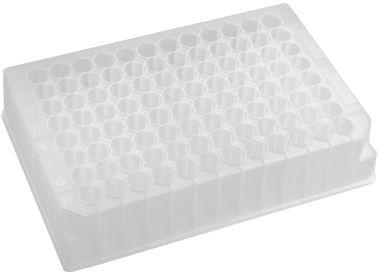 Placa de 96 poços profundos redondos, capacidade de 1,1 mL, caixa com 50 unidades, mod.: P-DW-11-C (Axygen)