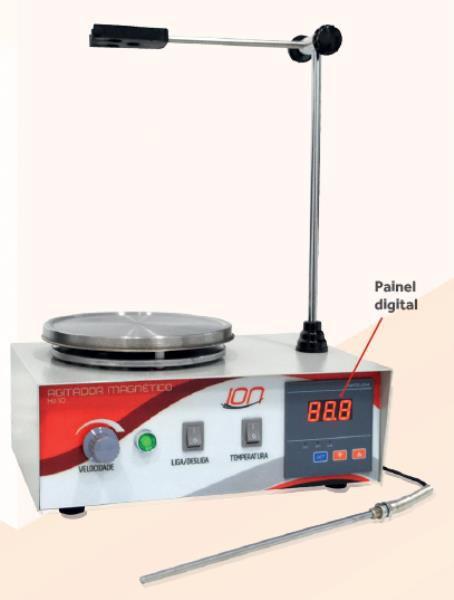 Agitador Magnético com aquecimento, velocidade entre 30 e 2400 RPM 220V, mod.: HJ-10-220V (Warmnest)