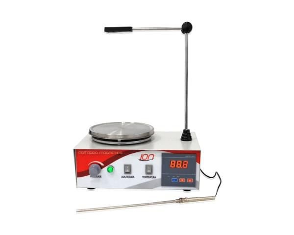 Agitador Magnético com aquecimento, velocidade entre 30 e 2400 RPM, 2L, 220V, mod.: HJ-3-220V (Ion)