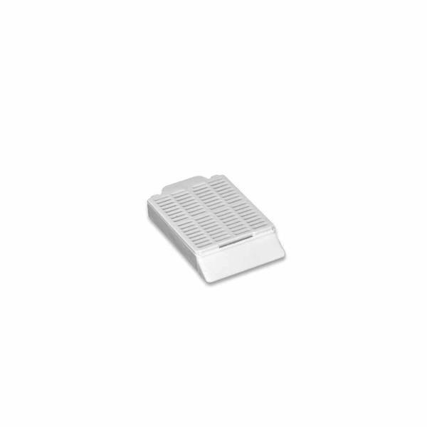 Cassete histológico com tampa removível, branco, caixa com 250 unidades, mod.: K30-0501 (Olen)