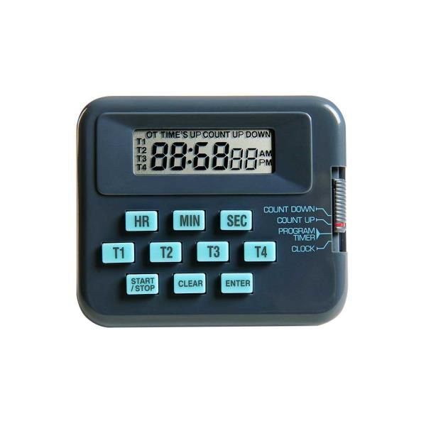 Timer Digital 4 Canais Independentes, Contagem Regressiva, mod.: K30-004 (Kasvi)
