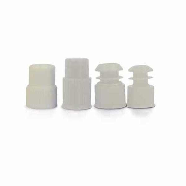 Tampas tipo reta para tubo de ensaio de 13mm, PE, pacote com 1000 unidades