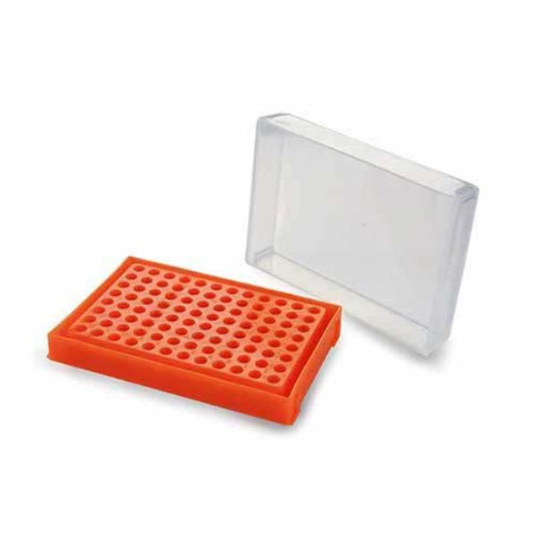 Rack para placas de PCR 96 poços, tampa removível, cores sortidas, unidade, mod.: K30-917 (Kasvi)