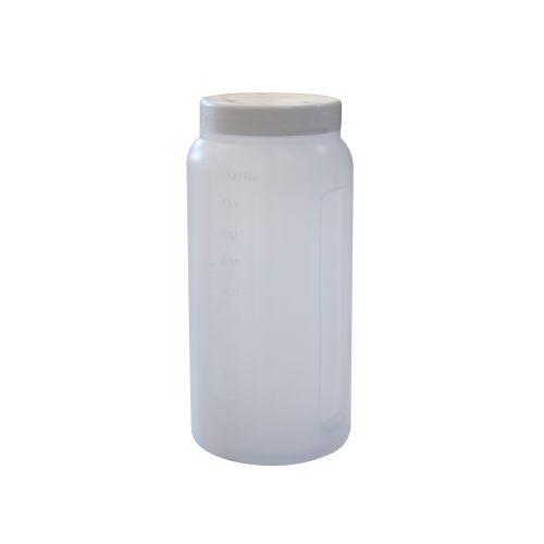 Coletor Urina 24 Horas 1 litro, Não Estéril, Frasco Transparente e Tampa Branca, Graduado, caixa 50 unidades, mod.: CLT24H1LT (Cralplast)