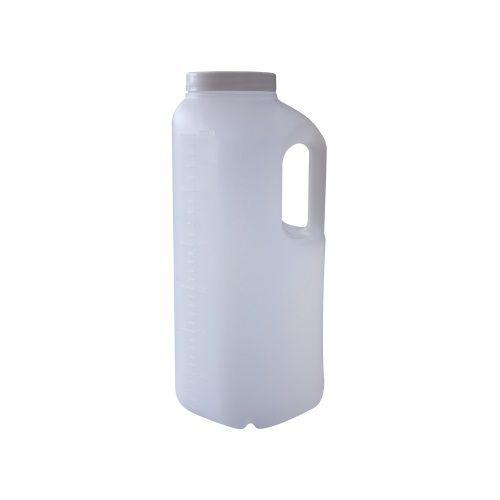Coletor Urina 24 Horas 3 litros, Não Estéril, Frasco Translúcido e Tampa Branca, Graduado, caixa 32 unidades, mod.: CLT24H3LT (Cralplast)