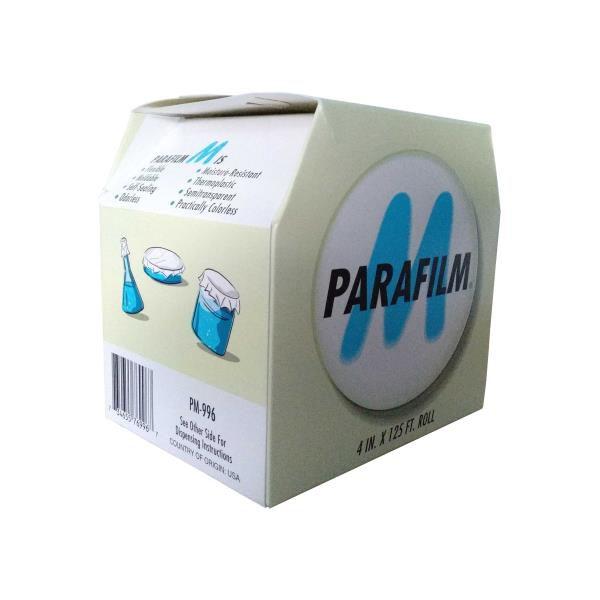 Parafilm M, termoplástico, flexível, moldável, em rolo de 10,16cmx38,10m, mod.: PM996 (American)