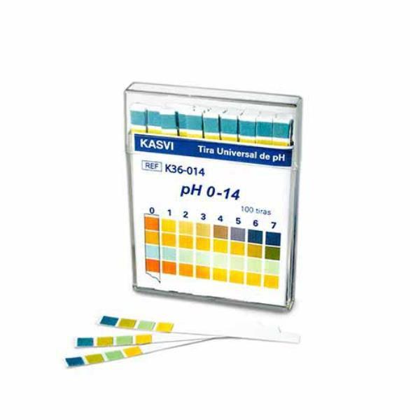 Fita de pH 0-14, Caixa com 100 unidades, mod.: K36-014 (Olen)