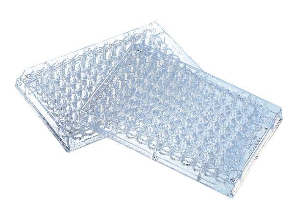 Microplaca para cultivo celular 96 poços, com tratamento da superfície, estéril, caixa com 100 unidades, mod.: 3599 (Corning)