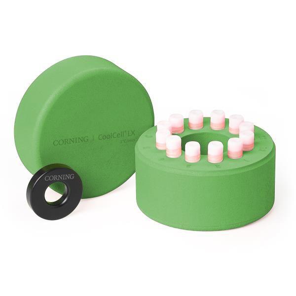 Sistema de Congelamento CoolCell LX, para 12 tubos, cor verde, unidade mod.: 432002 (Corning)