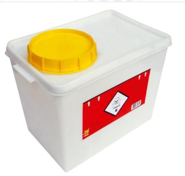 Coletor Rígido para Resíduos Quimioterápicos, 7 litros, Unidade, mod.: 0144101 (Descarpack)