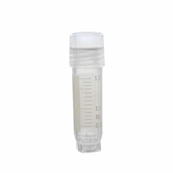 Tubo Criogênico com rosca externa, 2,0mL, auto-sustentável, estéril, pacote c/ 100 unidades (KASVI)