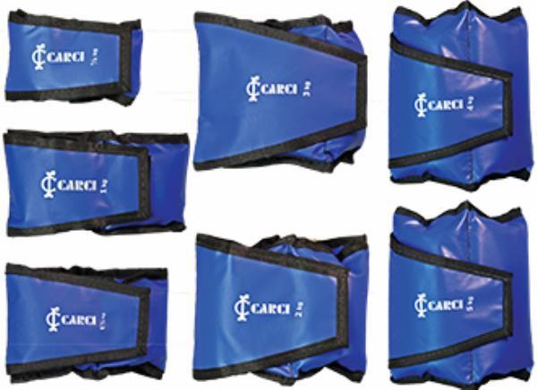 Tornozeleira com velcro, 2kg, em nylon de alta resistência, ajustável na largura, unidade, mod.: 04019T (Carci)