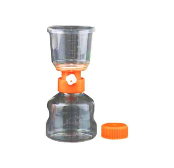 Frasco completo de filtragem, membrana PES 0,22um, a vácuo, capacidade de 250mL, estéril, unidade, mod.: FCFV250E (Bionaky)