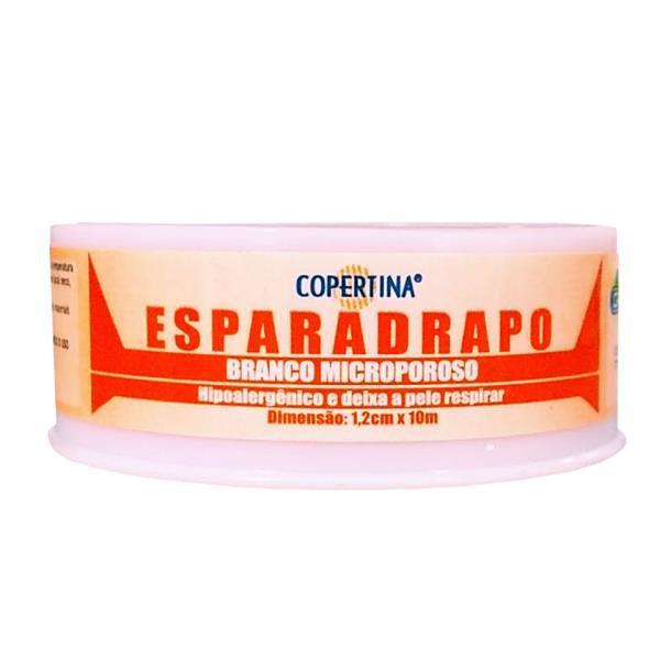 Esparadrapo microporoso branco, hipoalergênico, tamanho 1,2cm x 10m, caixa com 12 unidades, mod.: FT1210 (Copertina)