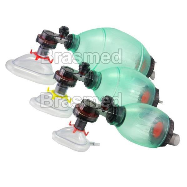 Ambú em PVC (Reanimador manual), 340 ml, Unidade, mod.: AMB340 (Brasmed)