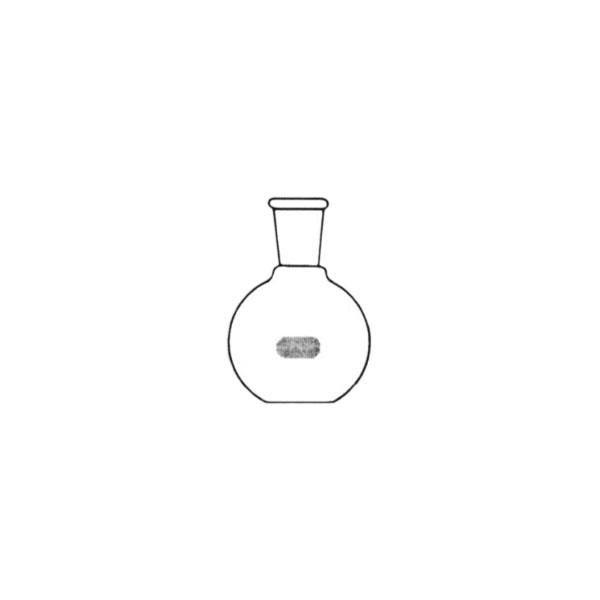 Balão fundo chato, 500mL, com gargalo curto com 1 junta 24/40, mod.: 76116B00500 (Vidrolabor)
