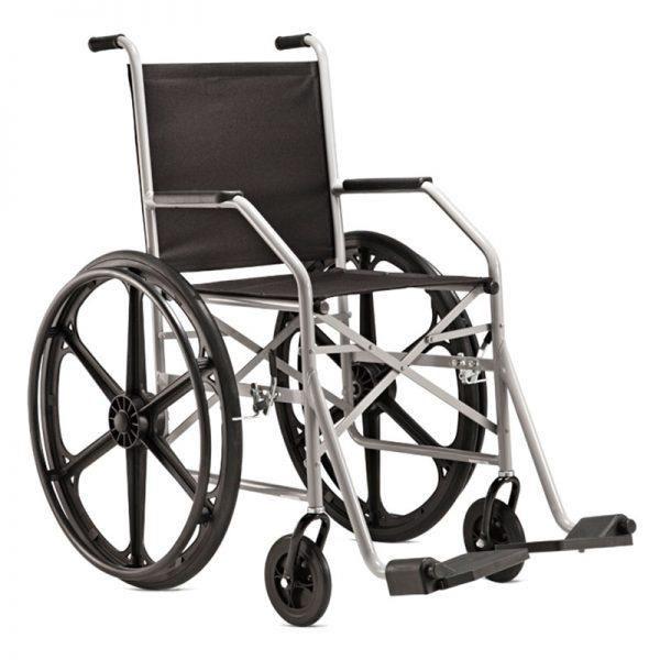 Cadeira de rodas dobrável, até 90 kg, mod.: 1009 (Jaguaribe)