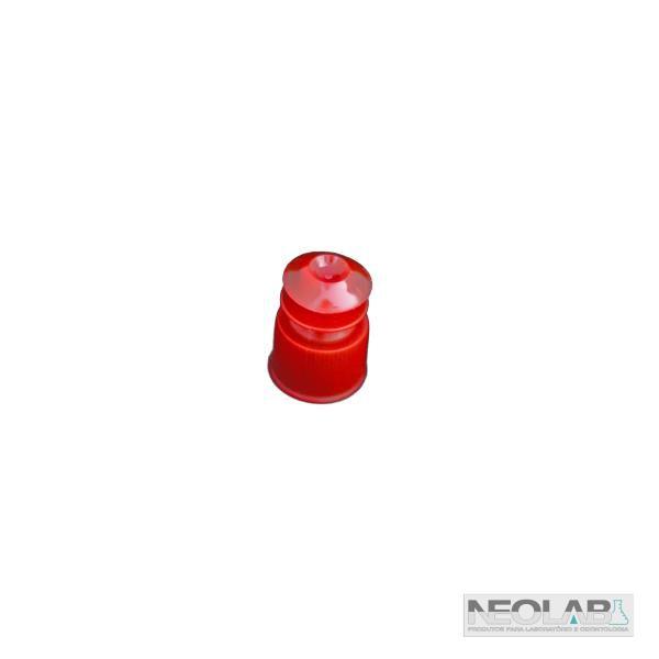Tampa tipo Flecha Vermelha para Tubos de Ensaio 12x75mm, Não Estéril, Pacote com 1000 Unidades, mod.: NLD113 (Neoplast)