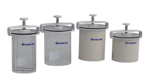 Jarra anaeróbica em acrílico transparente, Capacidade de 2,5 litros (8 placas), mod.: JA0403 (Permution)