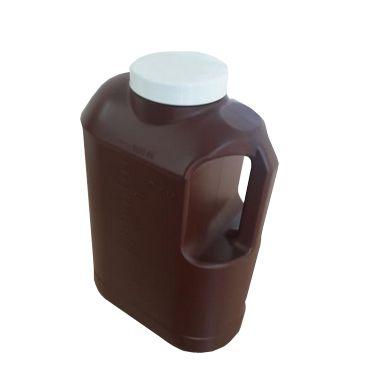 Coletor Urina 24 Horas 3 litros, Com Selo Vedação, Frasco na Cor Ambar, Tampa Branca, Graduado, Pacote com 30 unidades, mod.: 0637-0 (J.Prolab)