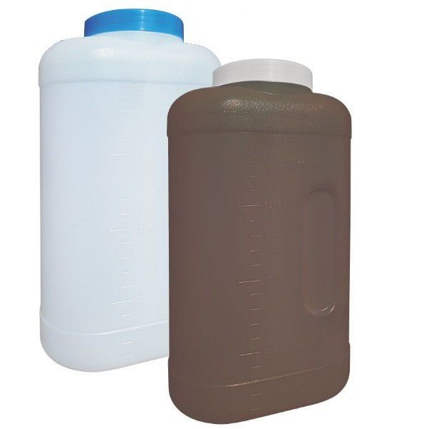 Coletor Urina 24 Horas 3 litros, Com Selo Vedação, Frasco na Cor Natural, Tampa Azul, Graduado, Unidade, mod.: 0637-1-UND (J.Prolab)
