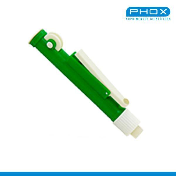 Pipetador de volumes manual, tipo Pi-Pump, capacidade de 10mL, mod.: PP-010 (Phox)