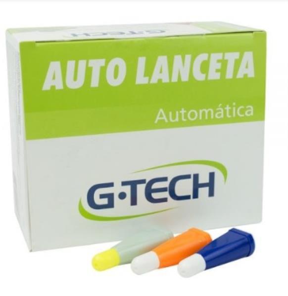 Auto Lanceta 23G, Caixa com 100 unidades, mod.: LANA23G1 (G-tech)