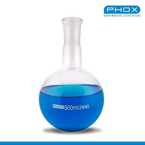 Balão Fundo Redondo em Borossilicato de 1.000 mL, com Junta 24/40, unidade, mod.: 5008-1000 (Phox)
