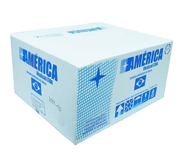 Compressa de Gaze não estéril, tamanho 7,5x7,5cm, 9 fios, pacote com 500 unidades, mod.: COGA7509F500333-PCT (America Medical)