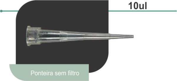 Ponteira 0,5-10 uL, Sem Filtro, em PP, Transparente, Baixa Retenção (Low Retention), caixa com 50 racks, mod.: T-300-L-R (Axygen)