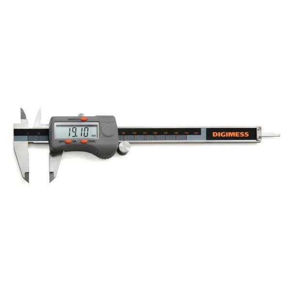 """Paquímetro Digital Com Dígitos Grandes, Capacidade 0-200mm/8"""", mod.: 100.176BL (Digimess)"""