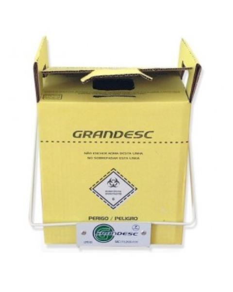 Descartex 7 litros, coletor de material perfuro-cortantes em papelão, unidade, mod.: 9906 (Grandesc)