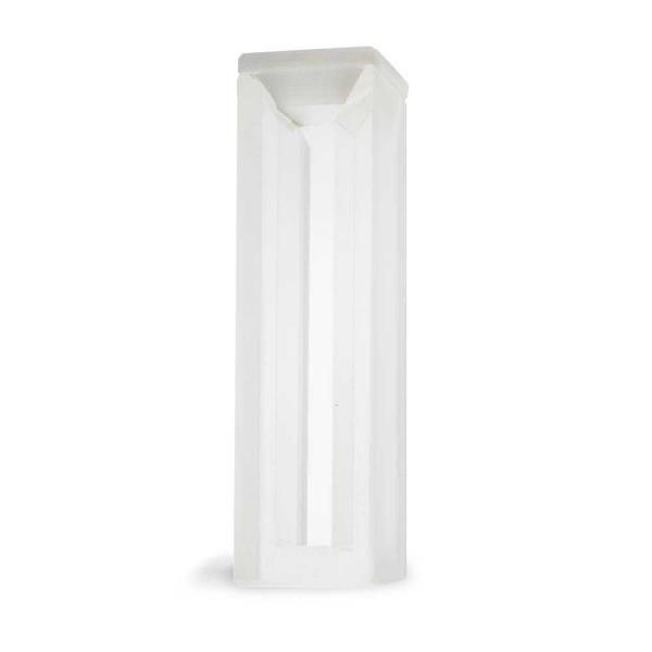 Cubeta em vidro óptico com 2 faces polidas, 1,7 ml, passo 10 mm, unidade, mod.: K22-117-G (Kasvi)