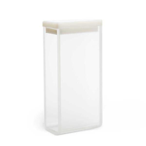 Cubeta em vidro óptico com 2 faces polidas, 7,0 ml, passo 20 mm, unidade, mod.: K22-270-G (Kasvi)