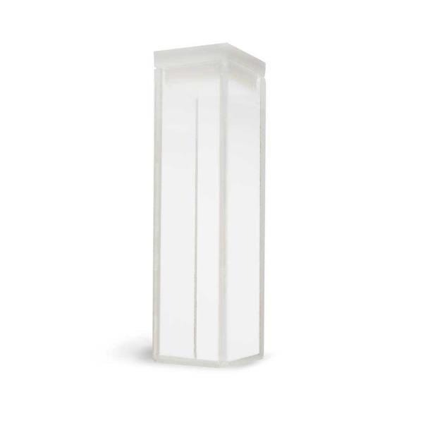 Cubeta em vidro óptico com 4 faces polidas, 3,5 ml, passo 10 mm, unidade, mod.: K24-135-G (Kasvi)