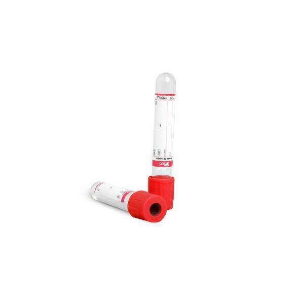 Tubo para coleta á vacuo com ativador de coágulo, 4,0 ml, plástico, vermelho, rack com 100 unidades, mod.: K50-204S (OLEN)