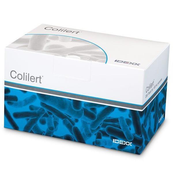 Colilert (ONPG-MUG), Embalagem individual para 100ml de amostra, Caixa com 200 unidades, mod.: 98-12973-00 (IDEXX)