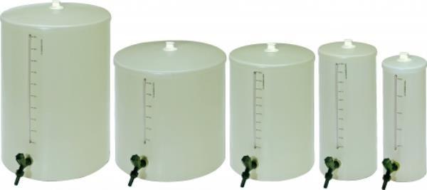 Barrilete em PVC, capacidade de 5 Litros, altura/tampa 43 cm, diâmetro da tampa 15 cm, mod.: 8515-7 (J.Prolab)