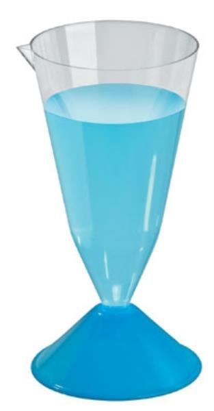 Copo de Sedimentação (Cone Imhoff) com base, 200 mL, em Poliestireno Cristal, caixa c/100 unidades, mod.: 8600-0 (J.Prolab)