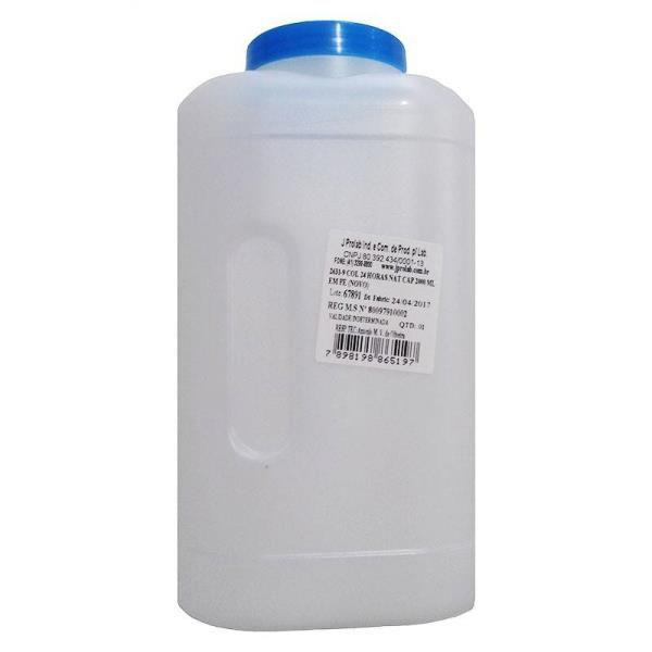 Coletor Urina 24 Horas 2 litros, Sem Selo Vedação, Frasco e Tampa na Cor Natural, Graduado, pacote com 44 unidades, mod.: 2631-9 (J.Prolab)