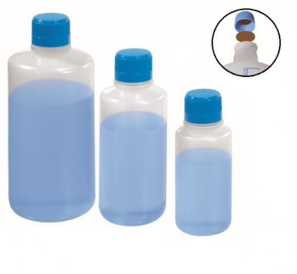 Frasco para reagente em PE não autoclavável, 250 mL, não graduado, com selo de vedação em PE expandido, mod.: 0427-1 (J.Prolab)