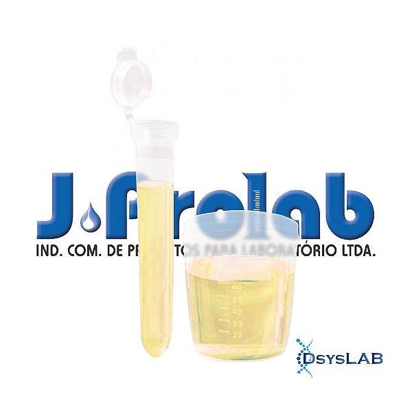 Kit Estéril para Coleta de Urina com Tubo Cônico 15 mL, com Tampa e Base do Coletor de 80 mL, pct com 50 unidades, mod.: 9363-1 (J.Prolab)