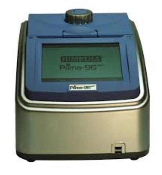 Termociclador com Gradiente, Bloco de 96 poços para tubos e microplacas de 0,1/0,2mL, 6 sensores Peltier independentes, mod.: PRIMA-96PLUS (Himedia)