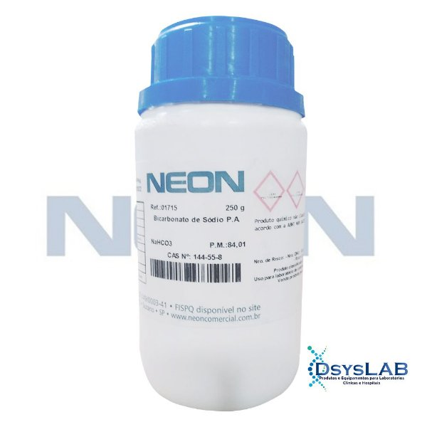 Bicarbonato de Sódio P.A., Frasco com 250 gramas, mod.: 01715-DSYS (Neon)