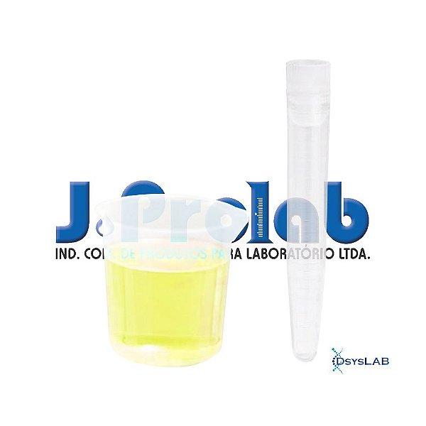 Kit para Coleta de Urina com Tubo de 12 mL, Estéril, com Tampa Vermelha e Base do Coletor de 80 mL, caixa c/500 unidades, mod.: 9363-8 (J.Prolab)