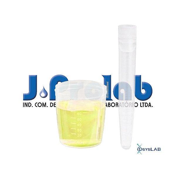 Kit não Estéril para Coleta de Urina com Tubo de 12 mL, com Tampa e Base do Coletor de 80 mL, pacote com 50 unidades, mod.: 9363-9-PCT (J.Prolab)