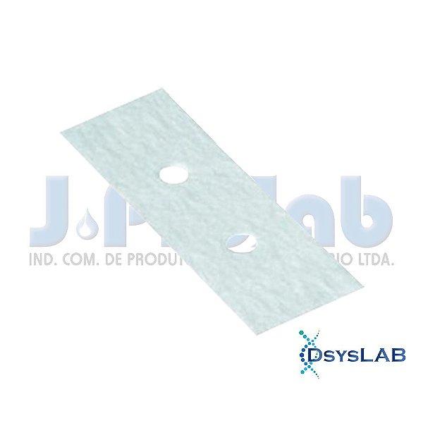 Papel de Filtro Qualitativo para Citocentrífuga, 25g, 2 furos, 26x75 cm, pacote com 200 unidades, mod.: 3222-9 (J.Prolab)