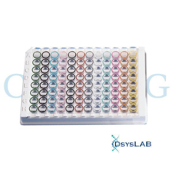Microplaca Stripwell 96 poços, Poços destacáveis, PS, Transp, alta ligação(High Binding), sem tampa, não estéril, caixa c/100 unid, mod.: 2592 (Corning)