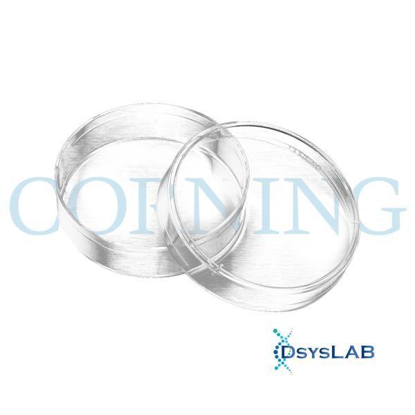 Placa de Petri para cultura celular, 60mm, com superfície tratada, Caixa com 500 unidades. mod.: 430166 (Corning)